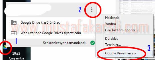 google drive çıkış