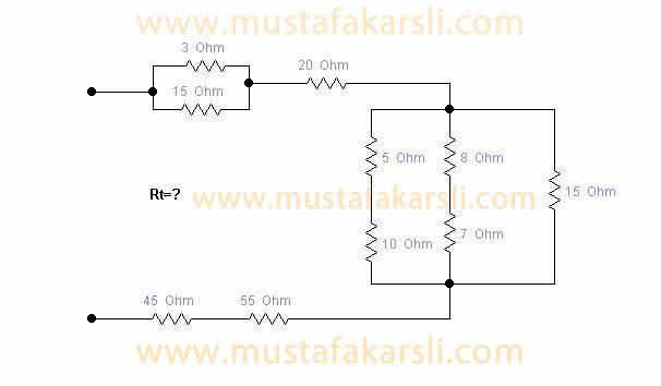 Temel Elektronik Karışık Devreler Soru 1