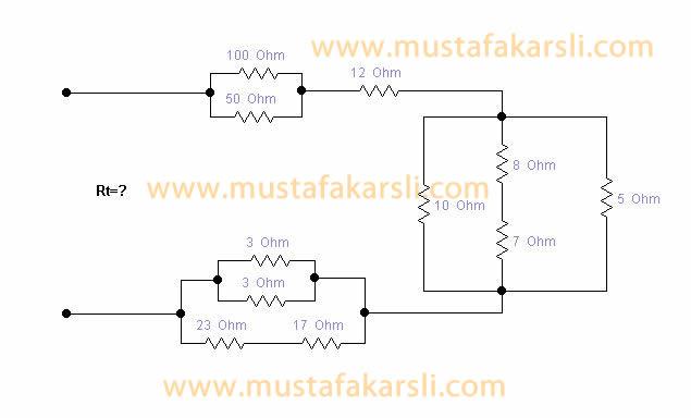 Temel Elektronik Karışık Devreler Soru 2