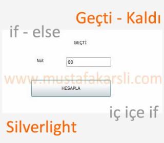 Silverlight ile Nota Göre Geçti Kaldı Yazan Sayfa