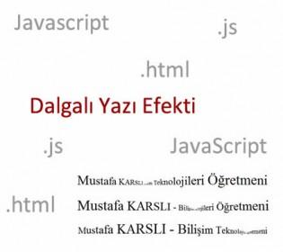 Web Sayfasına Dalgalı Yazı Ekleme