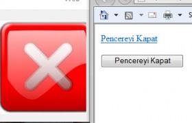 Web Sayfasına Pencereyi Kapat Butonu Ekleme