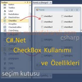 C# Net CheckBox (Seçim Kutusu) ve Özellikleri