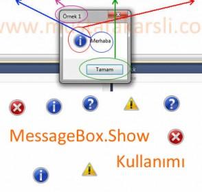 C# Net Mesaj Penceresi (MessageBox) İşlemleri