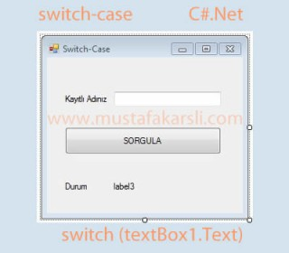 C Sharp Switch-case Yap�s� ve Kullan�m�