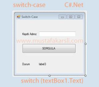 C Sharp Switch-case Yapısı ve Kullanımı