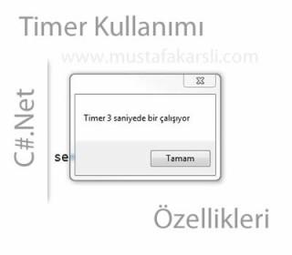 C Sharp Timer Nesnesi Özellikleri ve Kullanımı