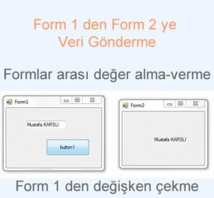 Form 1 den Form 2 ye Değer Gönderme