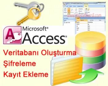 Access'te Veritabanı Oluşturma