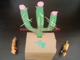 Kartondan Kaktüs Yapımı