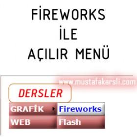 Fireworks ile Açılır Menü Yapımı