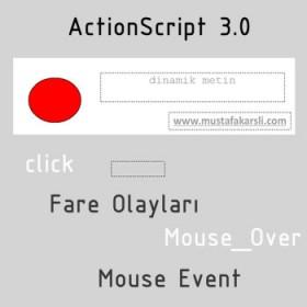 Action Script 3 Fare Olayları (Mouse Olayları)