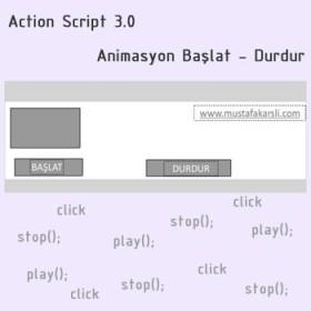 Action Script 3 ile Animasyon Başlat - Durdur