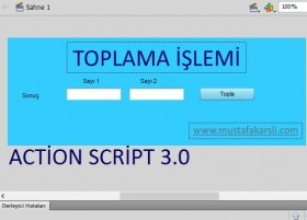 Action Script 3 Toplama ��lemi (TextInput - Buton)