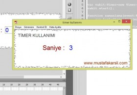 Flash ActionScript 3 ile Timer Kullanımı