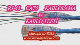 RJ45 A� Kablolama ve Kablo Testi