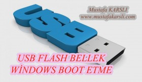 Windows Format için USB Flash Bellek Boot Etme